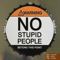 NO STUPID PEOPLE Large Beer Cover Tin Sign Logo Plaque Vintage Metal Painting Wall Sticker Iron Sign Bar KTV Store Decorative