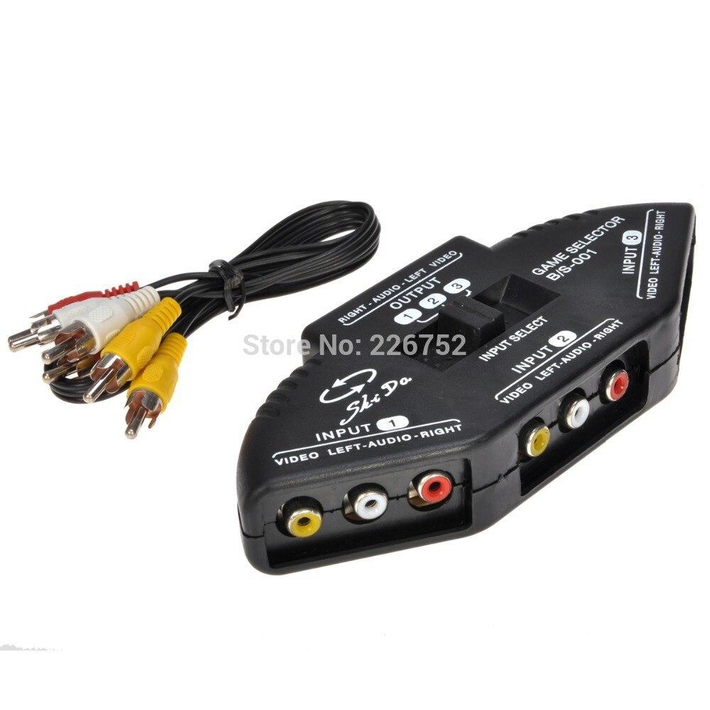High Quality 3 to 1 AV Multi Box RCA Device TV Video Extender Switch ...