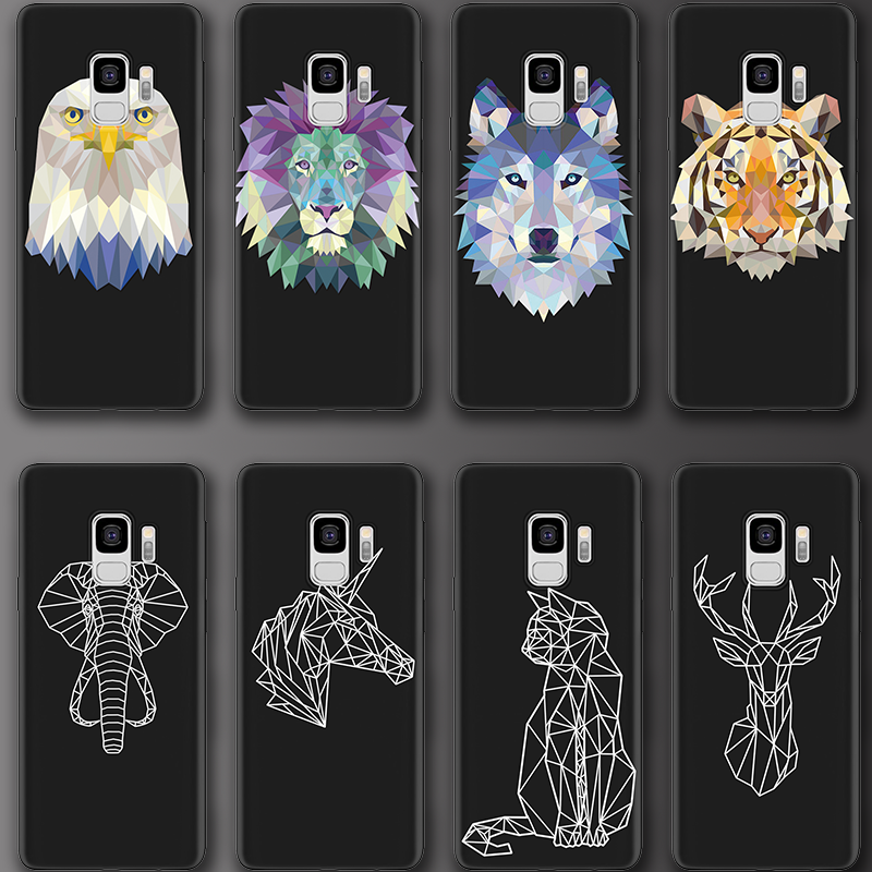 Black Animal For Samsung Galaxy S10 Plus Lite S8 S9 Plus S6 S7 Edge Grand Prime G530 Note 8 9 Soft Cover TPU For Samsung S8 Case