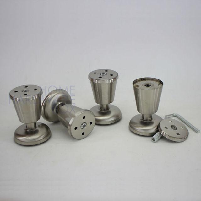 Metall tischbein edelstahl beine möbel küchenschrank füße 3 \
