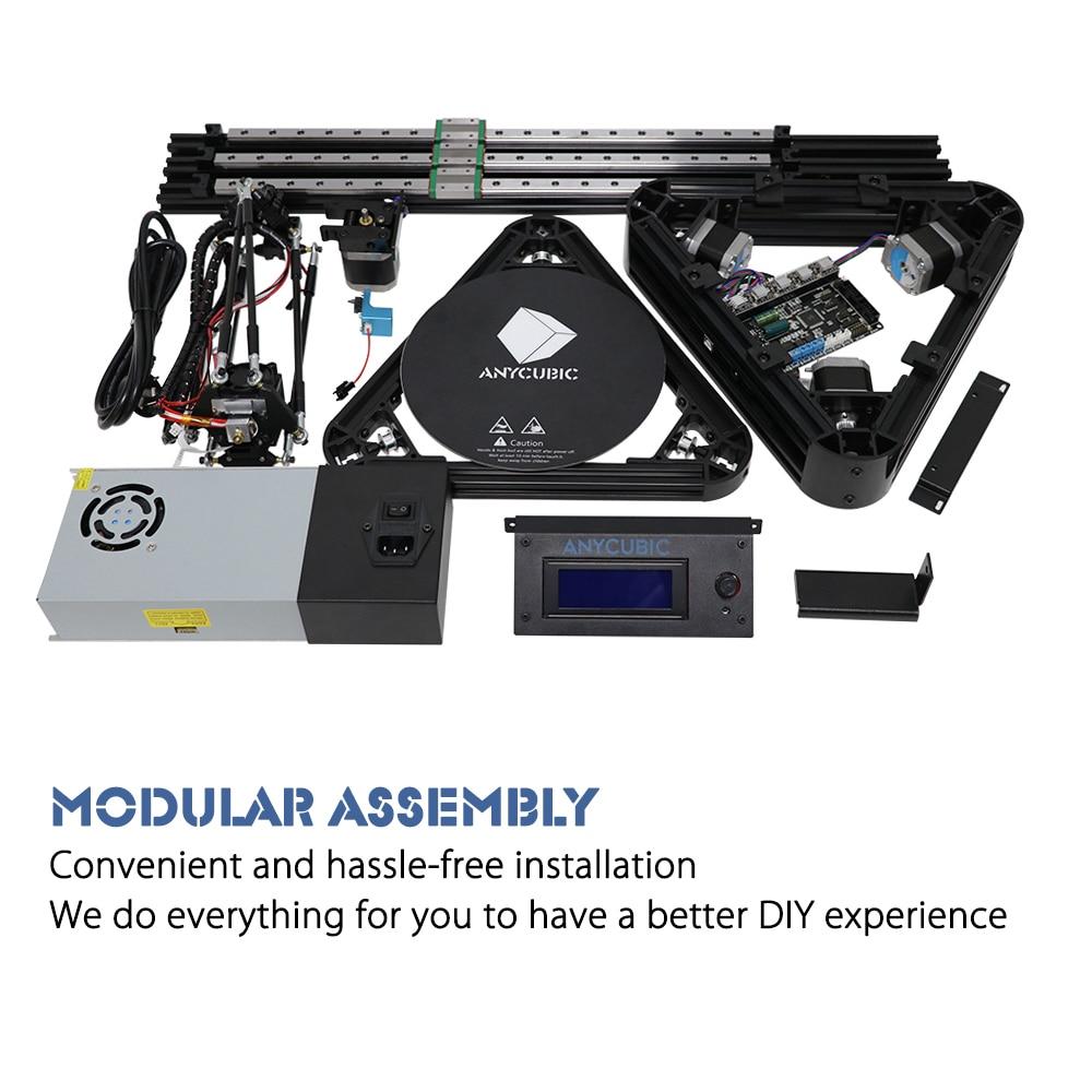 Anycubic 3d Drucker Kossel Print Plus Größe Gadget Auto-level-modul Plattform 3d Drucker Kits Diy Impresora 3d Drucker Computer & Büro