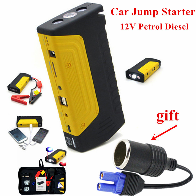 Multi-Function Petrol Diesel 12V Car Jump <font><b>Starter</b></font> Mini Starting Device Car Charger For Car Battery Booster Buster Top Power Bank