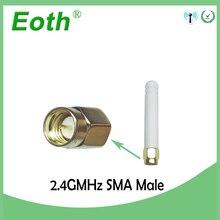 20pcs 2.4GHz antenna wifi SMA Male Connector 2~3dbi 2.4 ghz antena wi fi Small Size antenne white wi-fi antenas antennas router модем zte mf79 usb wi fi router черный