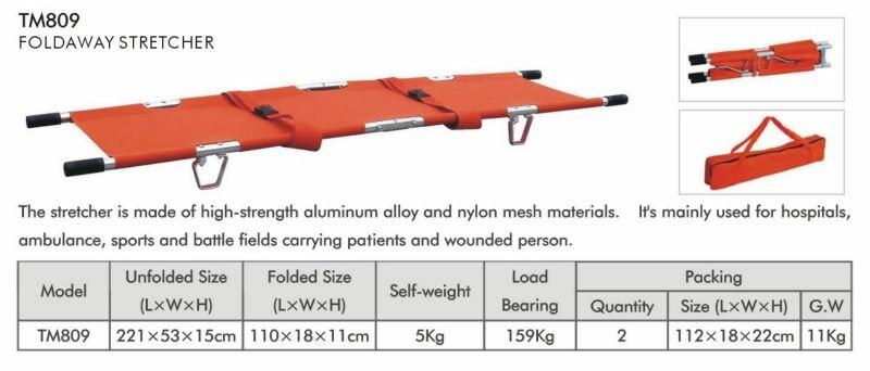Скидка 15% Бесплатная доставка Аварийный алюминиевый двухсторонний Складной Носилки