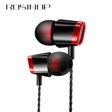 Rosinop 3.5mm Wired Headphones Phone Earphones With Mic hi fi In Ear Earpiece For xiaomi Apple Original Noise Canceling ecouteur цены онлайн