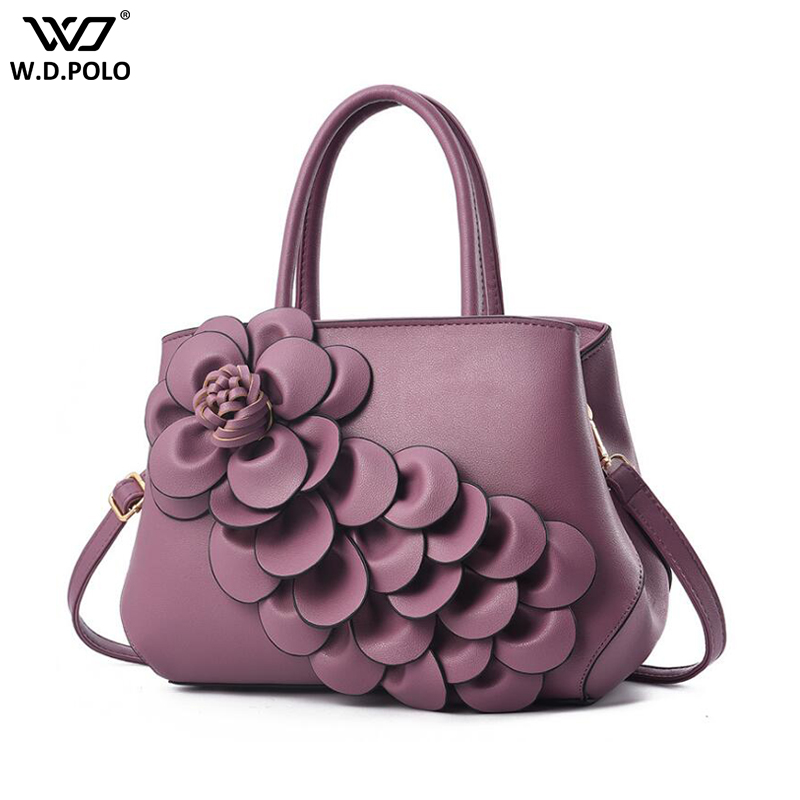 New 3D Flower Design Women Shoulder Bags Fashion High Capacity Lady Handbags For Female Tote Q068New 3D Flower Design Women Shoulder Bags Fashion High Capacity Lady Handbags For Female Tote Q068