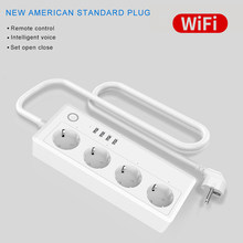 WiFi Smart Plug Sub-Control Intelligent Timing Controlled Remote Remote USB Plug EU Plug(China)