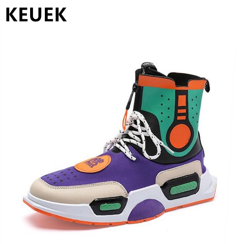 Men Casual shoes Breathable Fashion Outdoor Sneakers Brand design Youth Popular shoes Male Flats High-top shoe 02A stylish men s casual shoes with buckle and breathable design