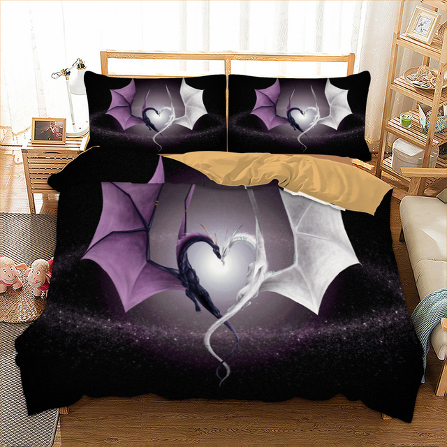 Dragon Bedding Set Twin Full Queen King Single Super Size Cool Bed Linen For Boys Bedclothes Cover 3pcs