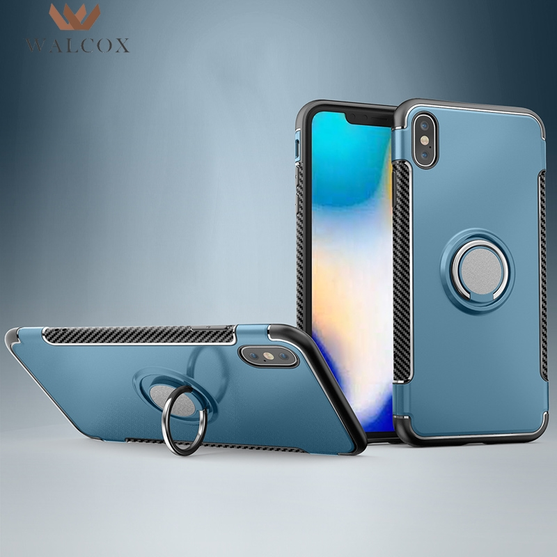 Akabeila Ring Cases For iPhone XS Max Case Cover For iPhone XR Coque Car Magnet iPhone XS Anti-knock Back Cover Skin Housings iPhone XS