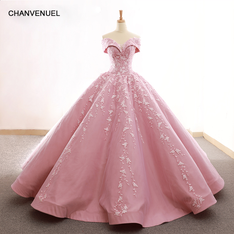 RSM66590 lovely pink off shoulder shiny   evening     dress   sweetheart floor length puffy pleat   evening   party   dress   quick shipping