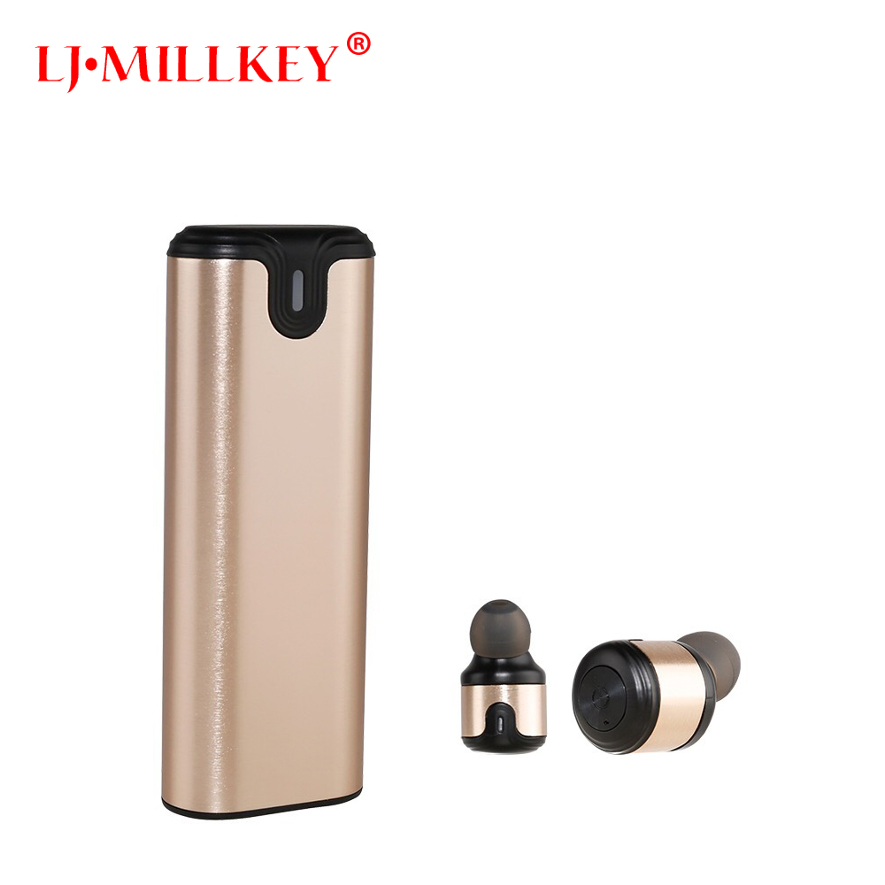 Original Bluetooth Earphones TWS Wireless Headset Noise Cancelling Sports Music Earbuds with Mic Charging box LJ-MILLKEY YZ153