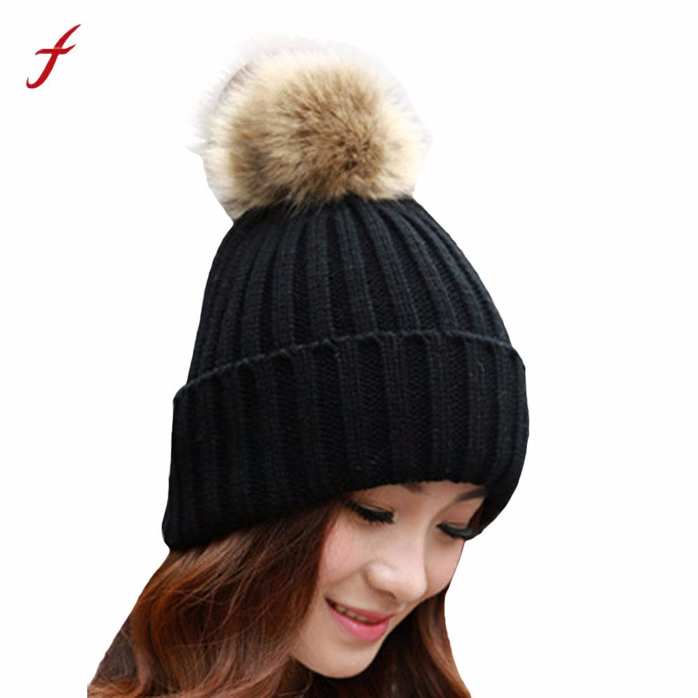 Women S Hats 100 Real Mink Fur 3 Big Fur Pom Poms Warm Brand Vogue