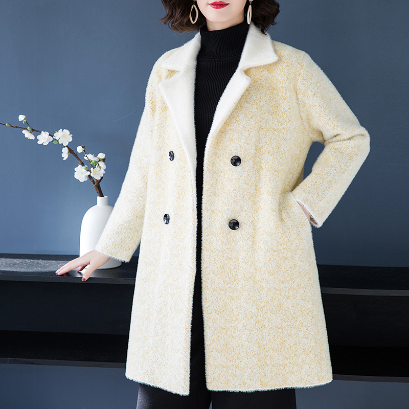 2018 mink fur coat embellished shirt jacket mink jacket women's mink coat women's slim jacket ladies winter warm jacket - 3