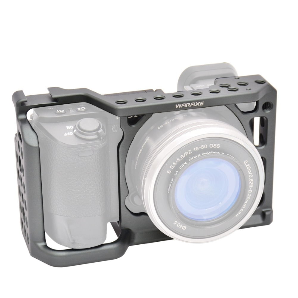 PULUZ WARAXE 2620 Professional Алюминий сплав Камера видео клетка стабилизатор для sony A6500/A6300/A600 ручка DSLR Steadycam