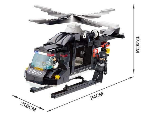 Police Helicopter Building Blocks