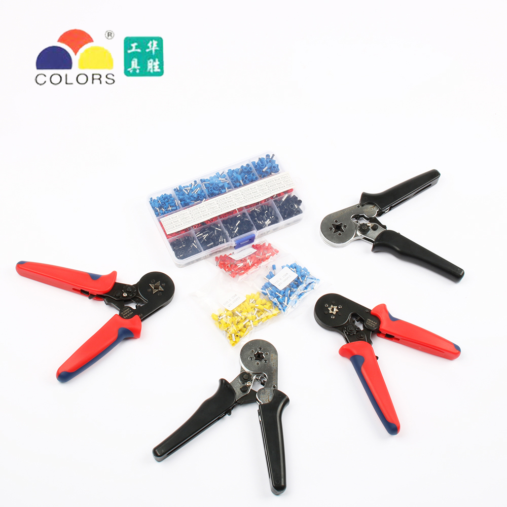 FASEN Colors tools HSC8 6-4 HSC8 6-6 SELF-ADJUSTABLE MINI-TYPE CRIMPING PLIER 0.25-6mm2 Pliers hand tools terminals