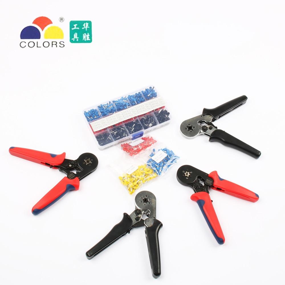 FASEN Colors tools HSC8 6-4 HSC8 6-6 SELF-ADJUSTABLE MINI-TYPE CRIMPING PLIER 0.25-6mm2 Pliers hand tools terminals
