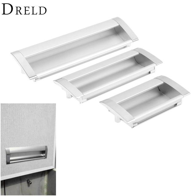 DRELD Furniture Handles Hidden Recessed Flush Pull Zinc Alloy Concealed  Handle Sliding Window Door Cabinet Knobs