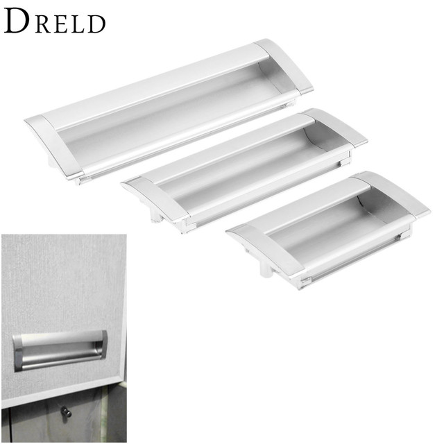 Charming DRELD Furniture Handles Hidden Recessed Flush Pull Zinc Alloy Concealed  Handle Sliding Window Door Cabinet Knobs