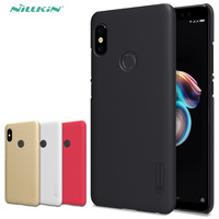 for Xiaomi Redmi Note 5 Pro Nillkin Super Frosted Shield Hard Back PC Cover Case Redmi Note 5 Pro Phone Case + Screen Protector pc intel case holder case fittings -