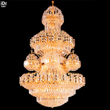 Crystal Lamp Living Room Floor Luxury Penthouse Villa Headlight Lamp Hotel  Engineering Lamp Factory Outlets Chandeliers