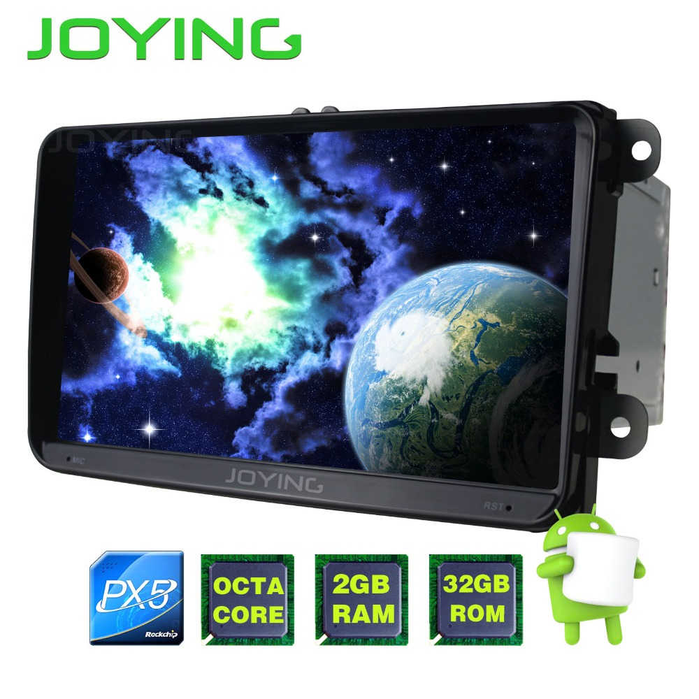 JOYING PX5 Octa 8 Core 9'' Android 8.0 2GB+32GB Car Radio Player for VW GOLF 5/6 Polo/Passat/Jetta/Tiguan/Touran GPS for Skoda