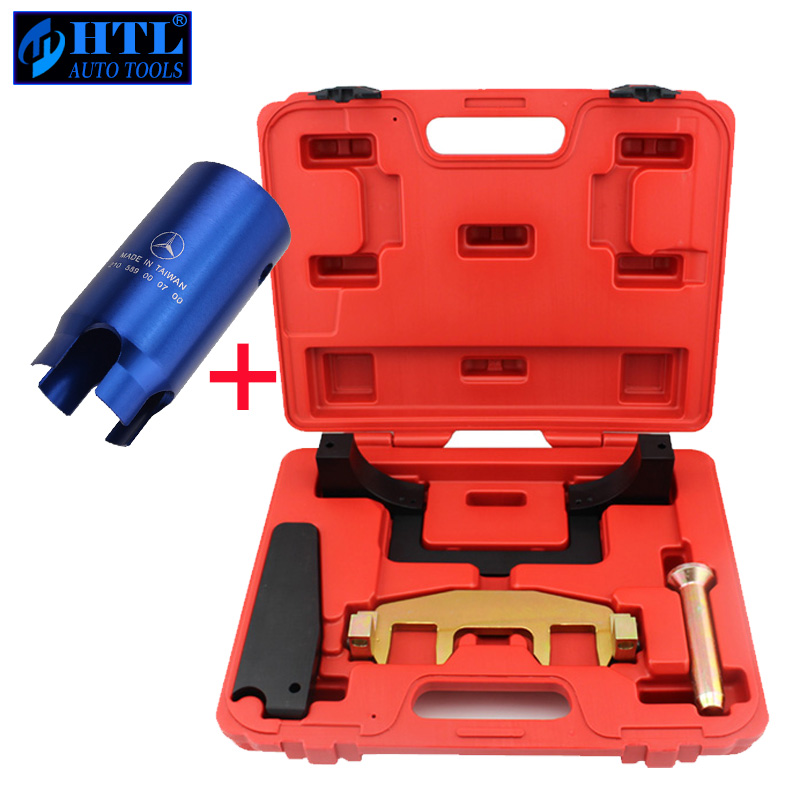 Engine Camshaft Timing Tool With Ignition Lock Remover For Mercedes Benz M271 C200 E260 C180 1.8L Chain Driven Camshaft new arrival engine timing tool kit camshaft locking tool set for mercedes a b c e class m133 m270