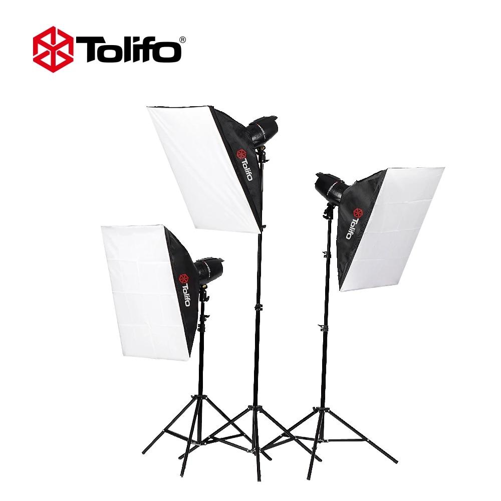tolifo photo studio lighting kit with 3 eg250b 3 light stand 3 soft box 1 soft umbrella 1 carrying bag 1 honeycomb cover and so