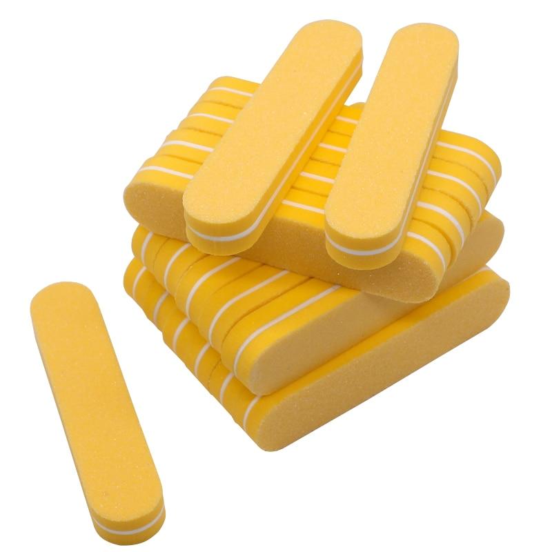 Mini broches de lixa para unhas, esponja