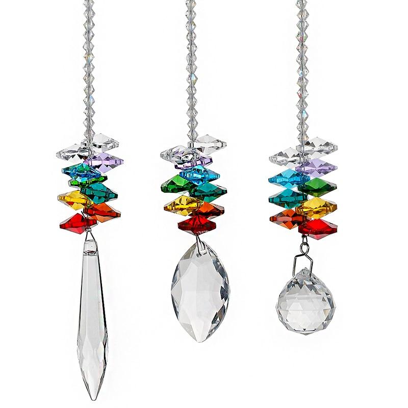 HampD 3pcsset Crystal Ball Pendant Accessories Colorful
