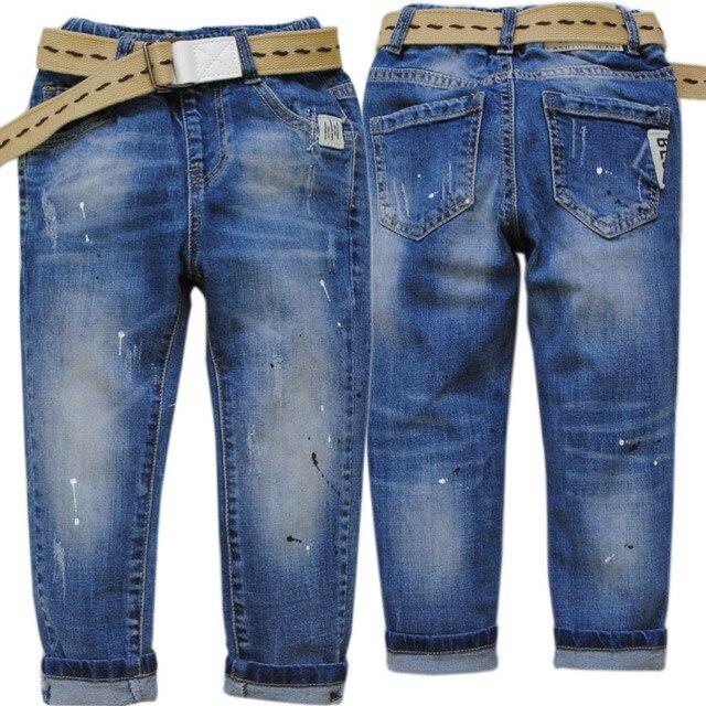 632b10d9fc74c 4086 peinture spot trou taille élastique enfants garçons jeans garçon pantalon  enfants garçon pantalon printemps automne