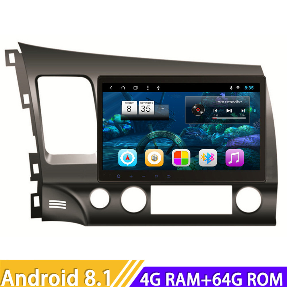 Roadlover Android 8.1 Car Multimedia Player Radio For Honda Civic 2006 2011 Stereo GPS Navigation Automagnitol Double Din NO DVD