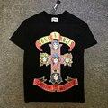 2017 summer Guns N Roses classic print fear of god justin bieber rock Tee tshirt
