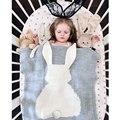 New Hot BabyToddler Cama De Malha Cobertor Do Bebê Envoltório Swaddling Cobertores Recém-nascidos Grande Orelha de Coelho Macio Caçoa o Presente Meninas Cobertores