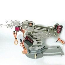 6 DOF CNC aluminum alloy 6-asix robotic arm frame ABB industrial robot model metal digital servo Non-slip base with Holder