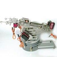 6 DOF CNC aluminum alloy 6 asix robotic arm frame ABB industrial robot model metal digital servo Non slip base with Holder