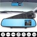 Hot 720 P 2.7 Polegada Carro DVR Metade Câmera HD Traço Visão Noturna Retrovisor Cam Acidente DVR G-sensor de Gravador De Vídeo Traço Cam
