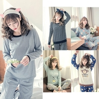 THINKTHENDO Women Long Sleeve Shirt And Pants Pajama Set Comfort Sleepwear Autumn Homewear