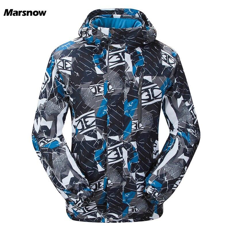 Marsnow Hommes Ski Vestes D'hiver En Plein Air Thermique Coupe-Vent Imperméable Snowboard Vestes Escalade Mâle Neige Ski Sport Vêtements