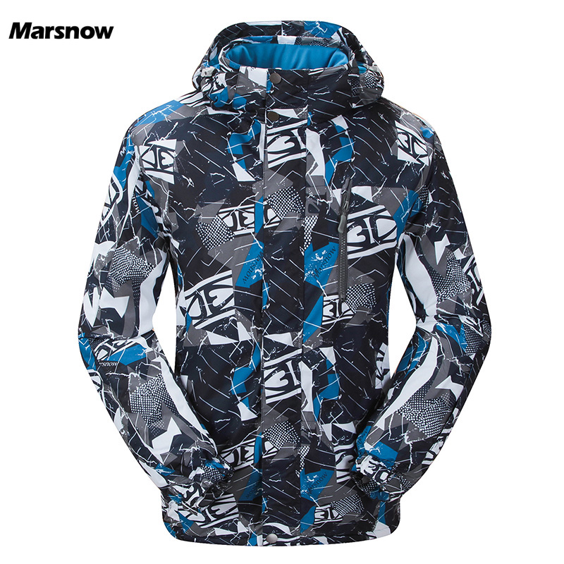 Marsnow Men Ski Jackets Winter Outdoor Thermal Waterproof Windproof Snowboard Jackets Climbing Male Snow Skiing Sport Clothes