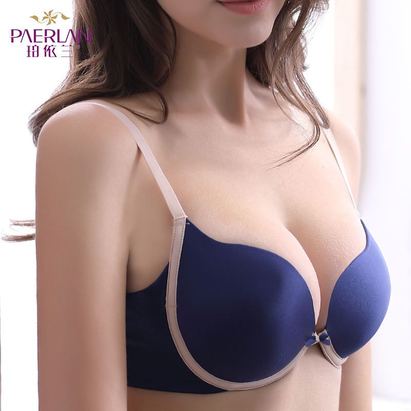 c8ecc0b48b12a PAERLAN Seamless Wire Free lace bra small breasts Push Up One - Piece sexy  Back Closure Tow ...
