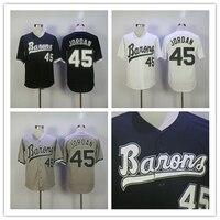 Birmingham Barons Jersey Michael Jordan Rookie 45 Baseball Jersey Stitch Sewn Chicago HOF
