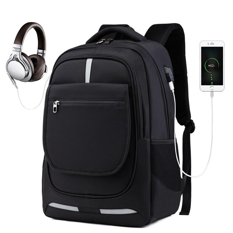 Sac à dos de voyage de grande capacité hommes USB chargeant des sacs à dos d'affaires mâle imperméable 17 pouces Sac à dos d'ordinateur portable Sac antivol PCN076