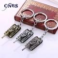3 colores 3D copa del mundo de tanques de Metal para el regalo Chaveiro llavero joyas coche llavero juego sostenedor dominante recuerdo