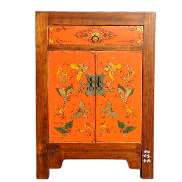 Chinese bedroom furniture Design Chinese Classical Handpainted Butterfly Lacquer Painting Wooden Bedroom Furniture Beijing Bedside Table Chinese Classical Hand Painted Butterfly Lacquer Painting Wooden