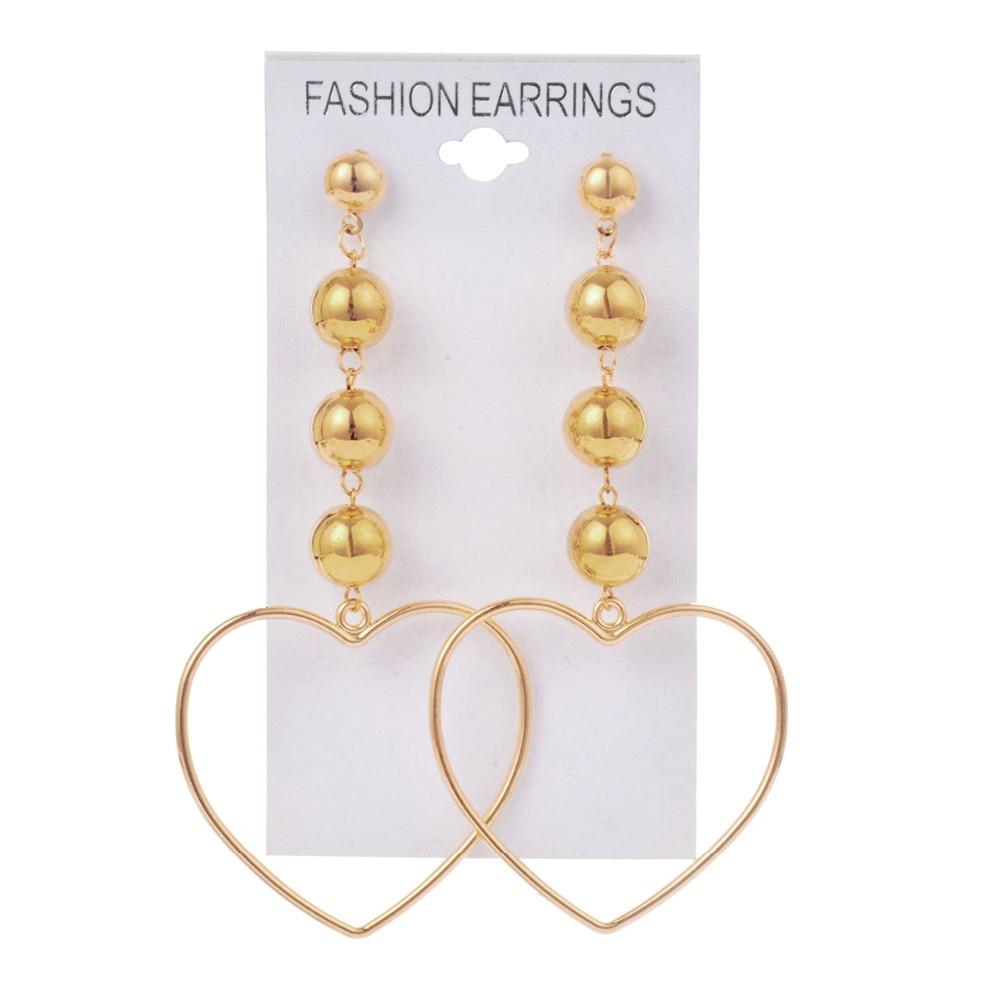 Siywina Fashion New Stud Earrings Trend Statement Sexy Hollow Metal Heart Type Gold Earrings Women Jewelry Earrings Wholesale gold earrings for women