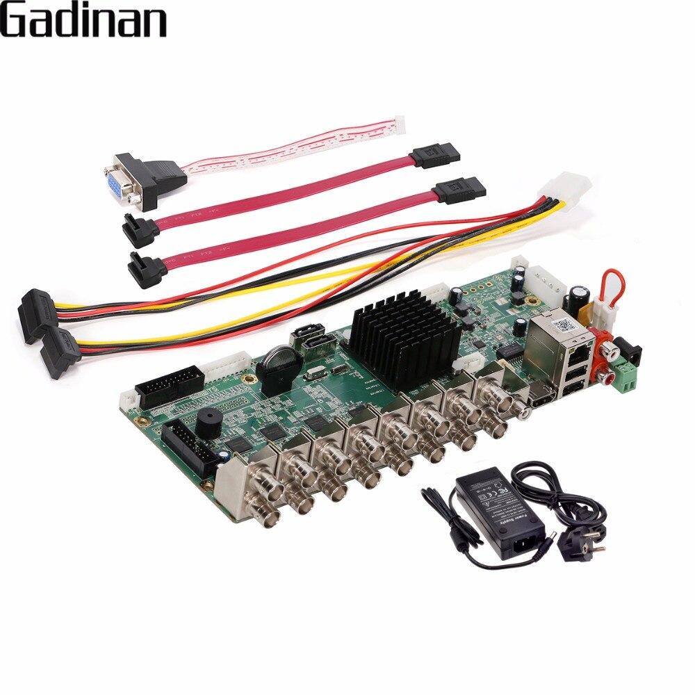 GADINAN 16 Canaux AHD DVR 1080 P 16CH AHD/CVI/TVI DVR 2MP CCTV Enregistreur vidéo 5 En 1 Système de Sécurité Hybride DVR NVR DIY conseil