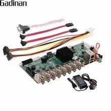 GADINAN 16 Channel AHD DVR 1080P 16CH AHD/CVI/TVI DVR 2MP CCTV Video Recorder 5 In 1 Security System Hybrid DVR NVR DIY Board