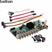 Gadinan 16 каналов AHD DVR 1080 P 16ch AHD/CVI/TVI DVR 2mp CCTV видео Регистраторы 5 В 1 безопасности Системы Hybrid DVR NVR DIY совета